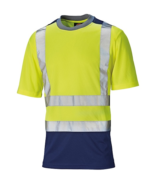 Dickies hi vis two tone t shirt safepol for Hi vis t shirt printing